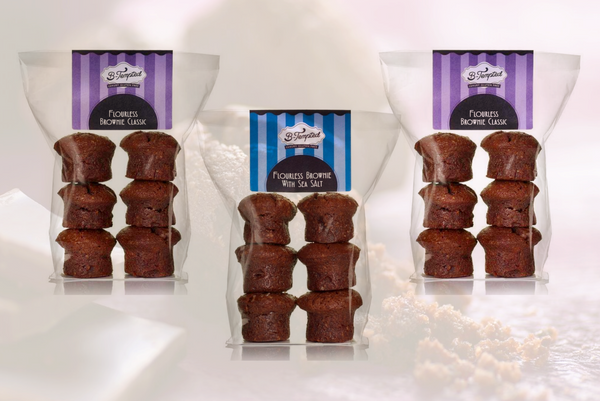 B-Tempted Chocolate Lovers Small Selection Pack - 3 Bags (18 Cakes) As Seen on Dragons' Den
