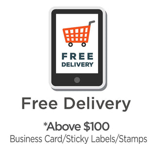 Free Delivery Namecard Sticker Labels And Pre-Inked Stamps