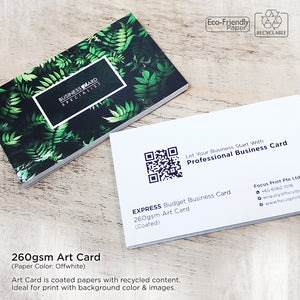 Express Budget Business Card - Focus Print Pte Ltd