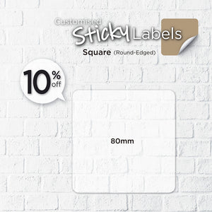 Satin Cloth  Sticker (Round-Edged Square) - Focus Print Pte Ltd