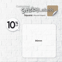 Load image into Gallery viewer, Satin Cloth  Sticker (Round-Edged Square) - Focus Print Pte Ltd