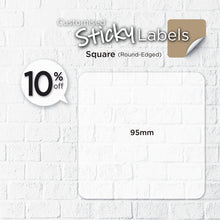 Load image into Gallery viewer, Matt Silver Sticker (Round-Edged Square) Water-Proof - Focus Print Pte Ltd