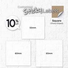 Load image into Gallery viewer, Satin Cloth  Sticker (Sharp-Edged Square) - Focus Print Pte Ltd
