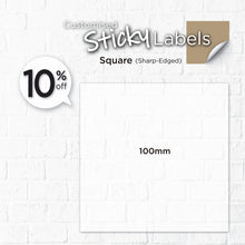 Load image into Gallery viewer, Matt Silver Sticker (Sharp-Edged Square) Water-Proof - Focus Print Pte Ltd