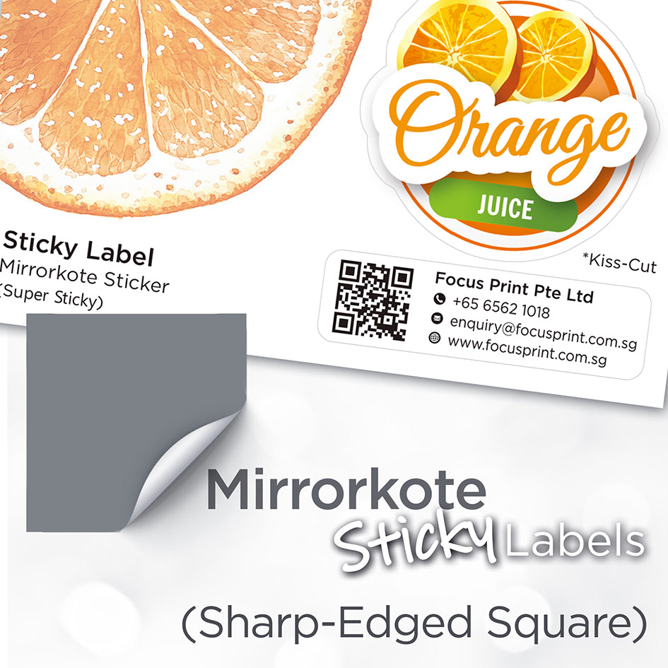 Mirrorkote (Sharp-Edged Square) Paper Sticker - Focus Print Pte Ltd