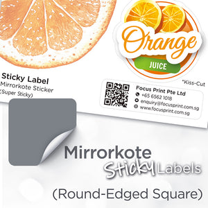Mirrorkote (Round-Edged Square) Paper Sticker - Focus Print Pte Ltd
