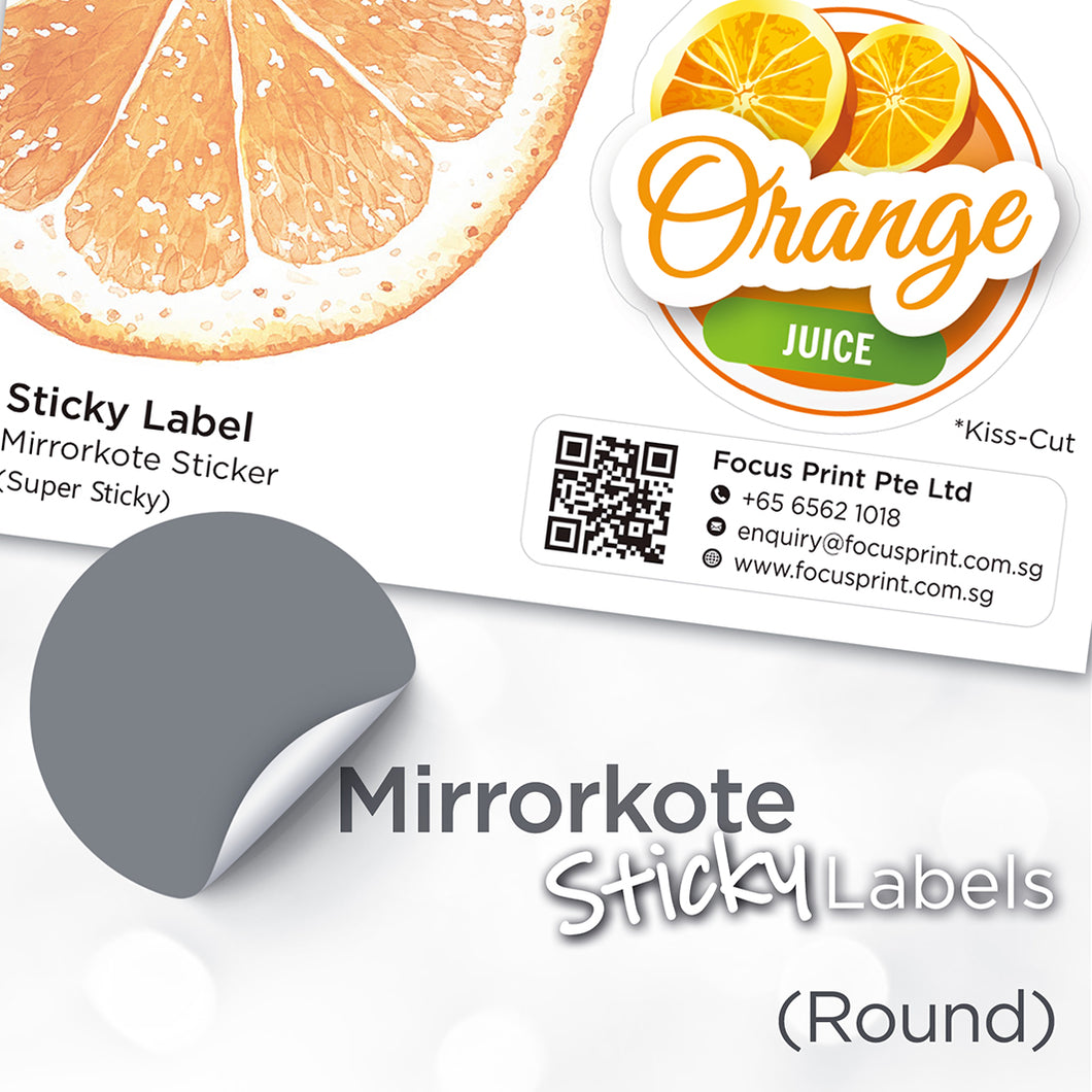 Mirrorkote (Round) Paper Sticker - Focus Print Pte Ltd