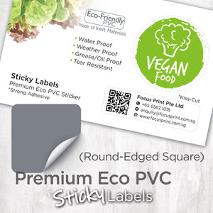 Premium Eco PVC Sticker (Round-Edged Square) - Focus Print Pte Ltd