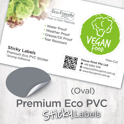 Premium Eco PVC Sticker (Oval) - Focus Print Pte Ltd