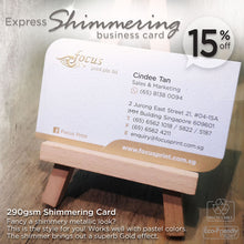 Load image into Gallery viewer, *New! Express Shimmering Business Card - Focus Print Pte Ltd