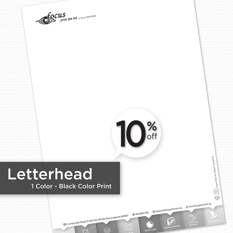 Letterhead (Black Color Print) - Focus Print Pte Ltd
