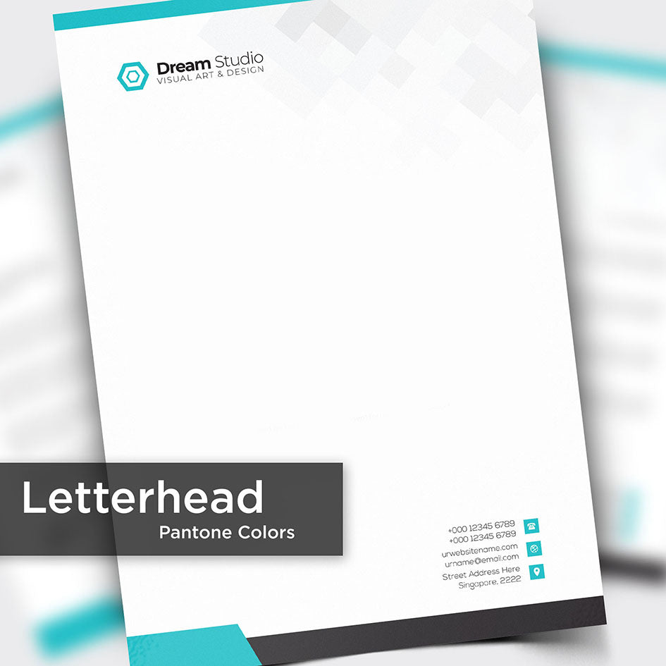 Letterhead (Pantone Color Print) - Focus Print Pte Ltd