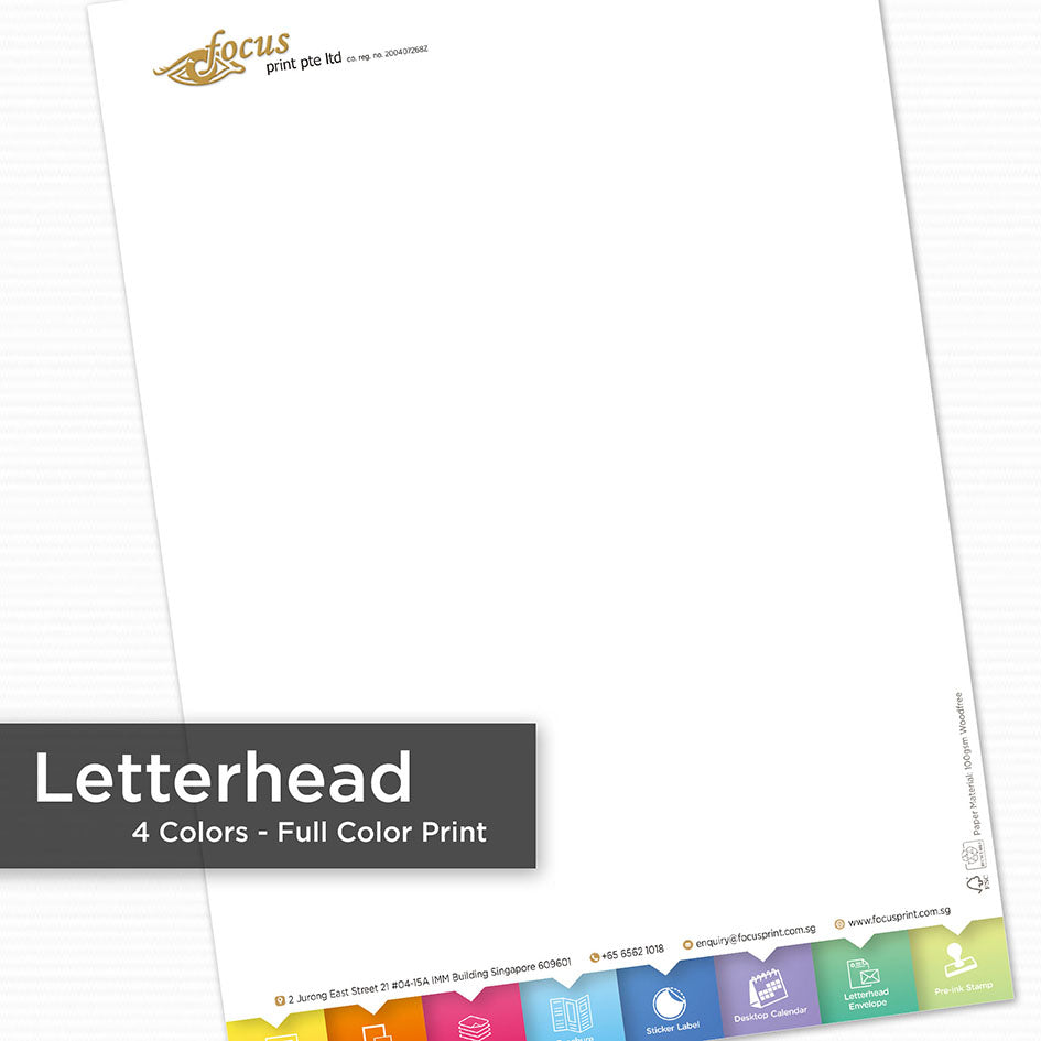 Letterhead (Full Color Print) - Focus Print Pte Ltd