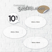Load image into Gallery viewer, Satin Cloth Sticker (Oval) - Focus Print Pte Ltd