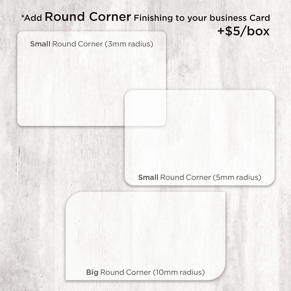 Add-On Round Corner Finishing (+ 2 Working Days) - Focus Print Pte Ltd