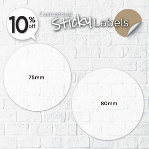 Satin Cloth Sticker (Round) - Focus Print Pte Ltd