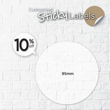 Load image into Gallery viewer, Matt Silver Sticker (Round) Water-Proof - Focus Print Pte Ltd