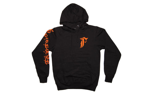 FOF Forever F Hoodie -BLACK/ORANGE