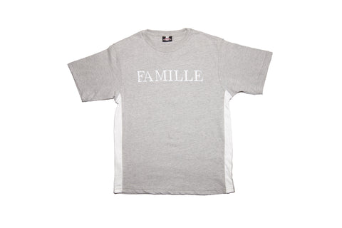 FAMILLE Twin set tshirt - Grey