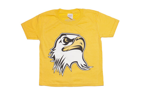 Kids Ultimate Eagle head t-shirt- Yellow