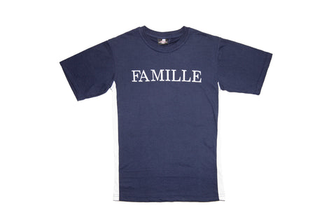 FAMILLE Twin set tshirt - Navy