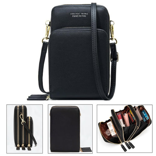 Crossbody Cell Phone Shoulder Wallet Bag