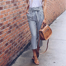 Load image into Gallery viewer, Striped High Waist Pants