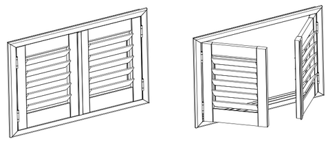 Panel Example - Hinged Plantation Shutters