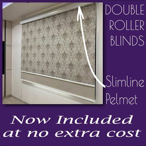 Sheer Soft Beige - Blockout White Double Roller Blind