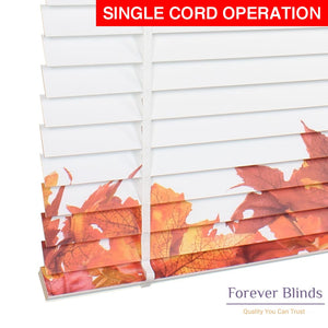Autumn Blossom Timber Venetian Blinds