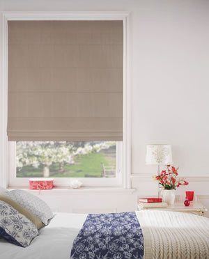 Basics Brown Blockout Roman Blinds