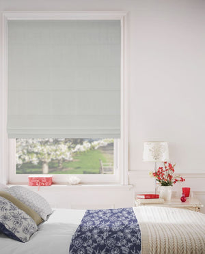 Basics White Cotton Roman Blinds