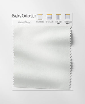 Basics White Roman Blinds