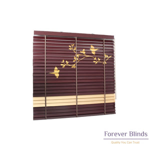 Birds & Leaves Timber Venetian Blinds