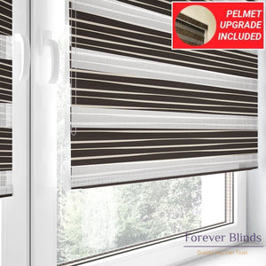 Chocolate Pleats - Zebra Blinds