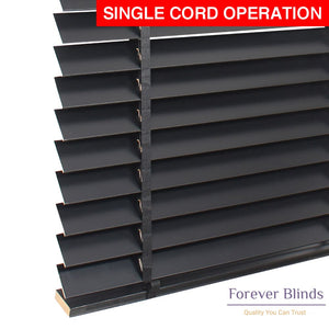 Black Matte Timber Venetian Blinds