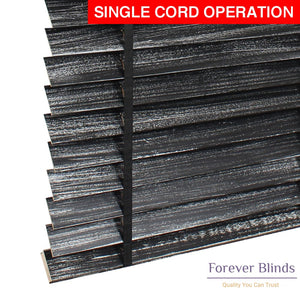 Black Silver Matte Timber Venetian Blinds