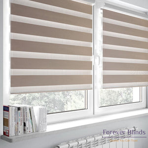 Blockout Beige Zebra Blinds