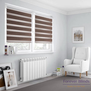 Blockout Choco Zebra Blinds