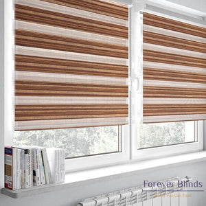 Brown Silk - Zebra Blinds