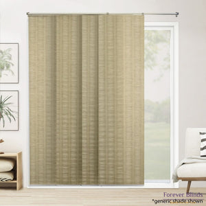 Champagne Mesh Panels - Panel Blinds