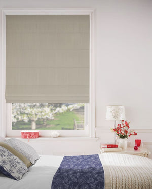 Champagne Mesh Roman Blinds