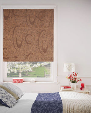 Chestnut Italian Roman Blinds