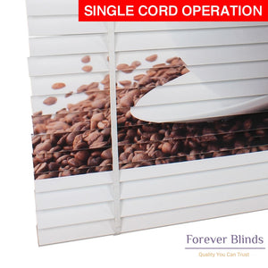 Coffee & Beans Timber Venetian Blinds