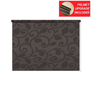 Coffee Black Roller Blinds