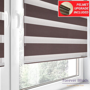 Combi Brown - Zebra Blinds