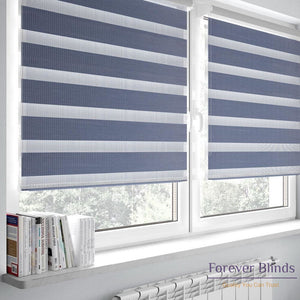 Combi Grey - Zebra Blinds