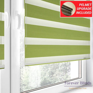 Combi Green - Zebra Blinds