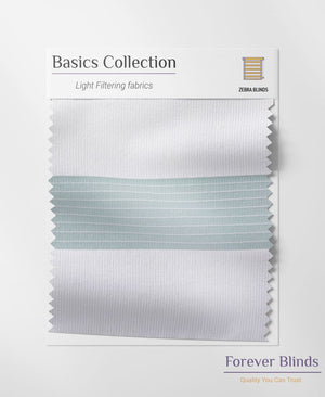 Combi White Basics Zebra Blinds