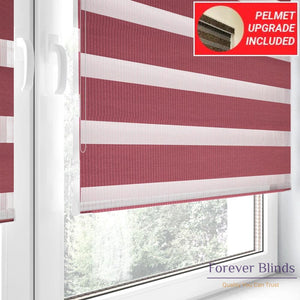 Combi Wine - Zebra Blinds